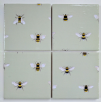 4 Ceramic Coasters in Sophie Allport Mini Bees
